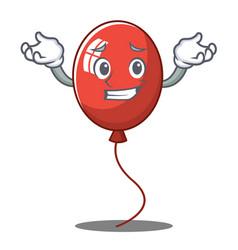 Grinning balloon character cartoon style vector