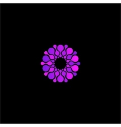 Isolated abstract purple color flower logo vector
