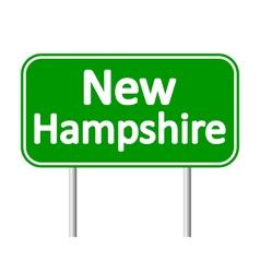 New hampshire green road sign vector