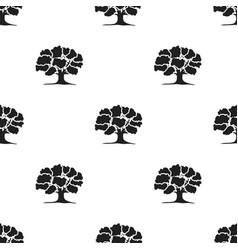 oak icon in black style for web vector image