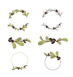 Olive or Argan Oil Logo Design Collection vector image