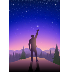 Reaching out for the star vector