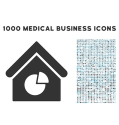 Realty pie chart icon with 1000 medical business vector