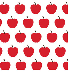 Red apple fruit harvest fresh seamless pattern vector