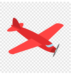 red plane isometric icon vector image vector image
