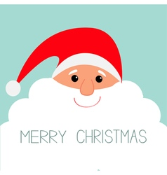 Santa Claus face with big beard Merry Christmas vector image