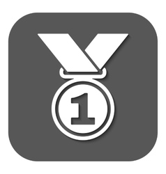 The medal icon Prize symbol Flat vector image vector image