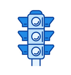 traffic light line icon vector image