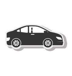 Car black sedan transport design vector
