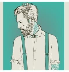 Hipster Fashion men vector image