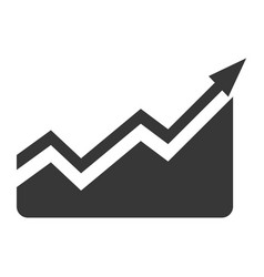 Statistics growing graphic vector