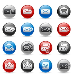 E-mail icons vector image