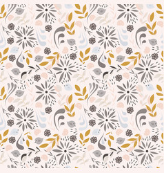 seamless pattern design with little flowers vector image