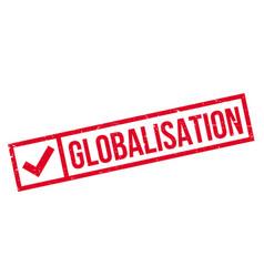 Globalisation rubber stamp vector