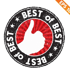 Stamp sticker best of best collection - - e vector