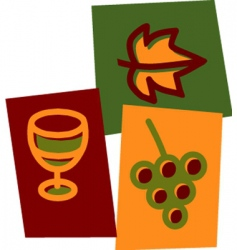 Wine and grape vector