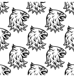 Seamless pattern with head of heraldic eagle vector