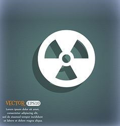 Radiation icon symbol on the blue-green abstract vector