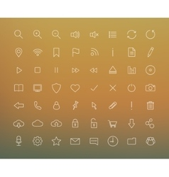Digital thin line icons set vector