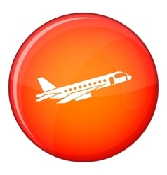 Airplane taking off icon flat style vector image