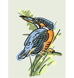 Artistic bird vector
