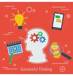 Background successful thinking vector