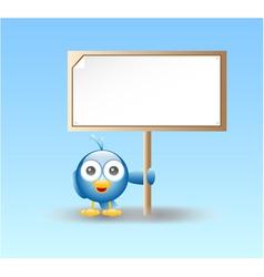 blue bird vector image vector image