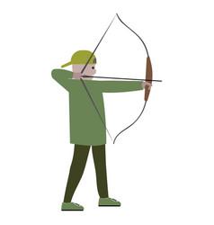 Boy with bow archer vector
