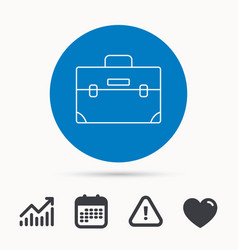 Briefcase icon business case sign vector