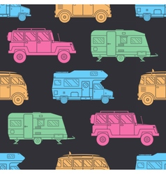 Camper seamless pattern vector