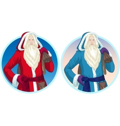 Christmas Characters Father Frost and Pere Noel vector image vector image