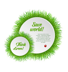 circle grass frame with copy space vector image vector image