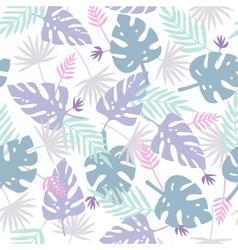 Cute purple leafs pattern vector
