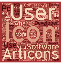 Developers icon toolkit text background wordcloud vector