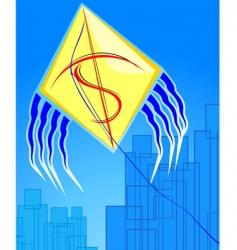 dollar kite vector image vector image