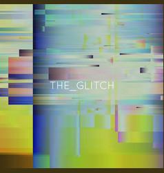 glitch background digital image data vector image vector image