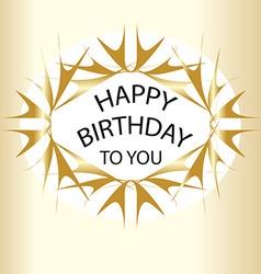 Gold Happy birthday vector image