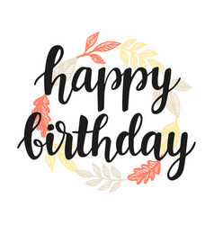 Happy birthday greeting card design template vector