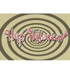 Happy Halloween retro background vector image vector image