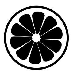 Lemon slice the black color icon vector
