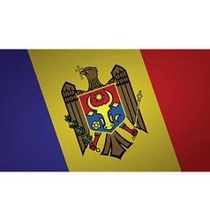 moldova flag vector image