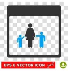Mother Calendar Page Eps Icon vector image