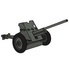 Old khaki cannon vector