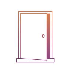 open door icon image vector image