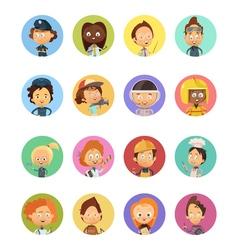 People profession cartoon avatars set vector