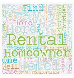 Rental swaps 1 text background wordcloud concept vector