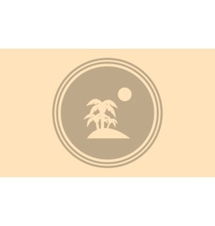 Silhouette of palm and moon on the islands vector