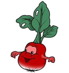Smiling radish vector