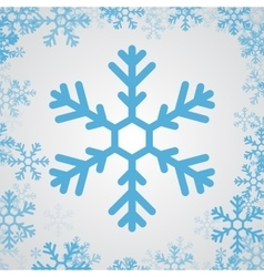 Snow flake icon vector