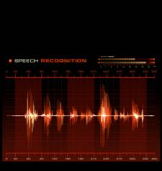 speech recognition vector image vector image